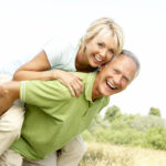 Couple with back pain relief